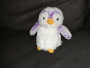 Aurora Purple And White Penguin Plush