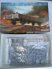 DRAGON 6085 GERMAN FLATBED TYP Ommr 2 AXLE w/ MG CREW  - 1/35 SCALE KIT OPEN BOX