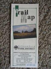 TRAIL MAP, Schaumburg IL. Park District, SPRING VALLEY NATURE SANCTUARY