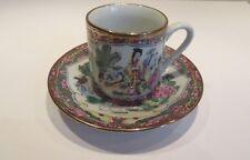 Vintage CHINESE DEMITASSE TEA CUP & SAUCER