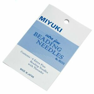 Miyuki Extra Fine 0.4mm Beading Needles & Threader Pack of 6 (M60/5)