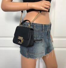 NWT Michael Kors Black Mini Saffiano Leather Crossbody Shoulder Bag $228