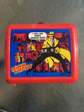 Vintage Disney Dick Tracy Detective Lunch Box Aladdin RED