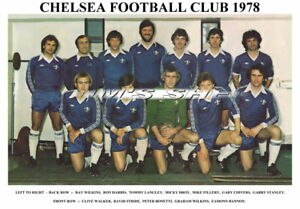 CHELSEA  F.C. TEAM PRINT 1978 (DROY/BONETTI/HARRIS/WILKINS)