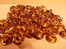 "LOT OF 144 1-GROSS BRASS EYELETS 5/16"" ID. SCRAP BOOKING, LEATHER CRAFT & ETC"