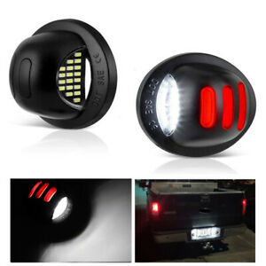 2X LED License Plate Light Lamp For Ford F150 Ranger Explorer Expedition Bronco