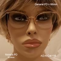 AO Numont Crossley 12k Gold Fill - True Antique CAT EYE Eyeglasses & Case