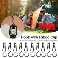 4 x Outdoor Tent Canopy Cloth Clip Hook Holder Portable Multifunctional Tool New