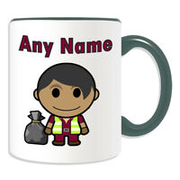 Personalised Gift Recycling Worker Bin Mug Cup Birthday Christmas Name Text Him