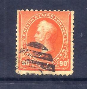 US Stamps - #229 - USED - 90 cent Oliver Perry Issue - CV $135