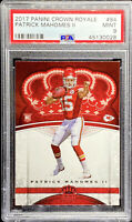Patrick Mahomes II 2017 Panini Crown Royale #84 RC ROOKIE MINT PSA 9