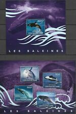 """CENTRAL AFRICA - 2014 MNH """"WHALES"""" Two Souvenir Sheets !!!"""