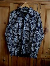 PAUL SMITH Jeans SHIRT Mens Size M, Navy Blue Floral Print L/S Button Cuff