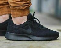 New NIKE Tanjun Athletic Sneakers casual shoes work Mens triple black all sizes