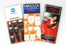 MINOLTA ELECTROFLASH GUIDE, SET OF 3