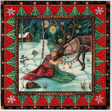 YULE XMAS GREETING CARD Reindeer Rest PAGAN Wiccan WINTER SOLSTICE WENDY ANDREW