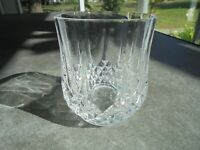 "Cris D' Arques Longchamp Double Old Fashioned Rocks Glass 3 3/4"" Tall"