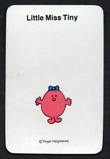 "One Vintage Blank Back Swap Card : "" LITTLE MISS TINY ""  BY ROGER HARGREAVES"