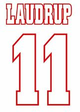 Laudrup #11 Ajax 1997-1998 Home Football Nameset for shirt