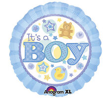 PALLONCINO ALLUMINIO IT'S A BOY BLU Party Festa Battesimo Nascita Mylar A15820