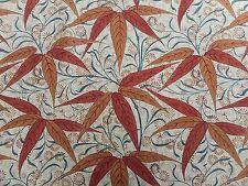 William Morris Curtain Fabric 'Bamboo' 2 METRES Russet/Siena  Linen Blend