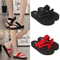 Lady Women Slippers Flip Flops Flat Sandals Beach Open Toe Shoes UK Size 3.5-5.5