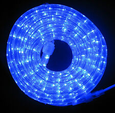"LED Rope Light 9Ft 110V 120V 2-Wire 1/2"" Blue Outdoor Decoration Building Bar"
