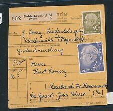 94104) Paketkarte Heuss, MiF 250PF Dahlerbrück - Hoyerswerda DDR