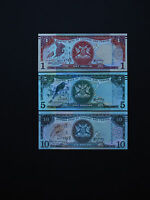 TRINIDAD and TOBAGO BANKNOTES  2006  SET OF  3       p46 - p48  QUALITY MINT UNC