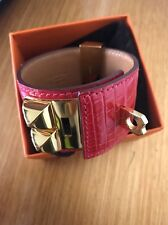 Hermes CDC Red D5 Bracelet Alligator Collier De Chien Authentic New S