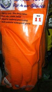 LATEX  FISHING GLOVES GREAT FOR SHRIMPERS =12 PAIR (DOZEN) - PICK SIZE--JOY FISH