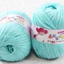 DK Baby Cashmere Silk Wool Crochet Children Hand knit Scarf Yarn 2x50gr Balls 09
