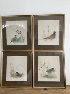 Mads Stage - Four Framed Game Bird Prints