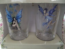 New Amy Brown Set Of 2 Blue Fairy Faery Pint Glasses