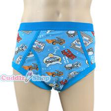 Cuddlz Mens Adult Sized Blue Boys Toys Pattern Cartoon Underpants Briefs