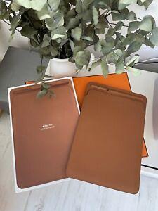 """Genuine Original Apple iPad Pro Leather Sleeve 10.5"""" - Saddle Brown"""