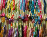 50 Variegated Art Silk/Rayon Stranded Embroidery Skeins, 50 Different Colours