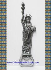 NY New York Status of Liberty Bronze Fridge Magnetic Bottle Opener B