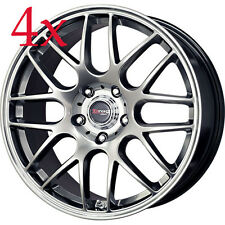Drag Wheels DR-37 18x8.5 5x112 Hyper Black Rims For audi S4 A4 Avant Allroad A6