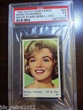 1960 Dutch Gum Card Serie L #26 MARILYN MONROE Sexy Close-Up Photo PSA 5