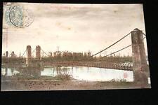 BOURBON LANCY PONT SUSPENDU SUR LA LOIRE 1906