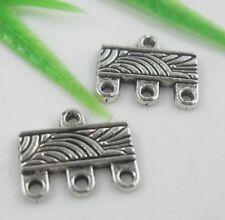 50pcs Tibetan Silver Jewelry Findings Connectors 12x10.5mm  (Lead-free)