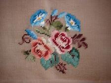 Vintage Hiawatha Rose Morning Glory Needlepoint Canvas