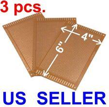 3 Pcs 4x6 9x15cm Prototyping Pcb Printed Circuit Board Prototype Breadboard Kit