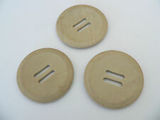 VINTAGE BEIGE SEWING OLD LARGE RETRO COAT BUTTONS CRAFT QUILT HANDBAG PROJECTS