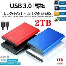 USB3.0 Disco duro externo móvil SATA HDD 2TB para computadora portátil PC HAM