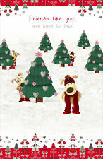 Boofle Special Friend Christmas Greeting Card Foiled Xmas Cards