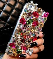 Luxury 3D Color Diamond Case Rhinestone Bling Crystal Jewelled Phone Case Cover