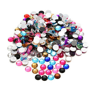Flat back Acrylic Rhinestones Round Loose Beads Mix Color 1.5mm 4mm 6m 8mm 10mm