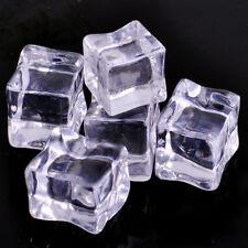 20X Künstliche 2CM Acryl Eiswürfel  Eisblock Tischdeko Cocktails Party Ice Tube